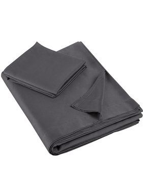 De Witte Lietaer Single sheet set OLIVIA (Smart Collection) 180x280+60x70 Ebony 100% cotton, satin
