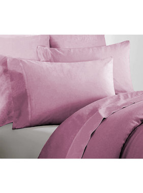 De Witte Lietaer Single sheet set Willow 180x280 + 60x70 Lilac 100% cotton, Flannel