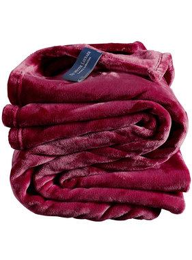 De Witte Lietaer Fleece deken Beet Red 150 x 200 cm