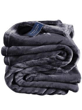 De Witte Lietaer Fleece throw Cozy 150x200 blue graphite 100% polyester