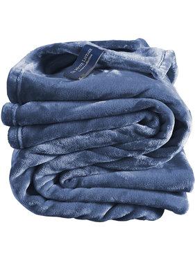 De Witte Lietaer Fleece deken Blue Indigo 150 x 200 cm