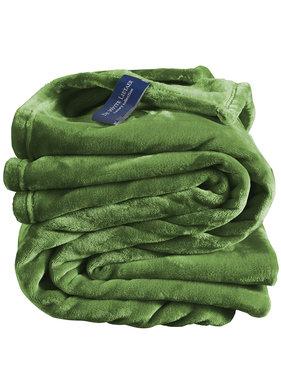 De Witte Lietaer Fleece throw Cozy 150x200 cactus 100% polyester