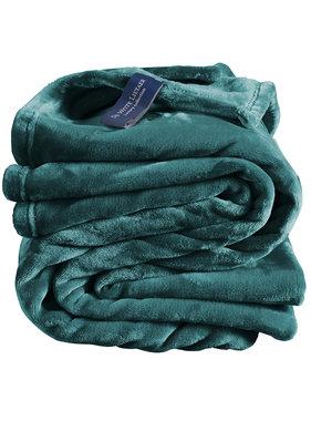 De Witte Lietaer Fleece plaid Cozy 150 x 200 cm lake green 100% polyester