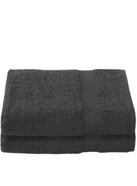 De Witte Lietaer Shower towel Stephanie Ebony 70 x 140 cm - 2 pcs.