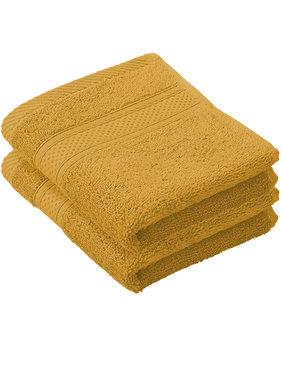 De Witte Lietaer Guest towels Stephanie Golden Yellow 30 x 50 cm - 2 pcs.