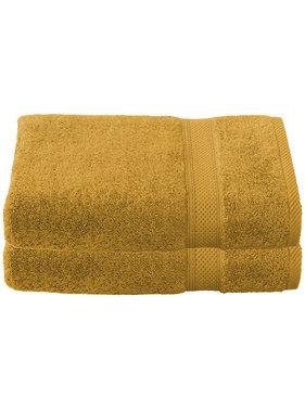 De Witte Lietaer Shower towel Stephanie Golden Yellow 70 x 140 cm - 2 pcs.