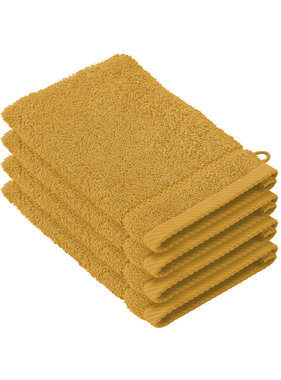 De Witte Lietaer Washandjes Stephanie Golden Yellow 15 x 21 cm - 4 st.