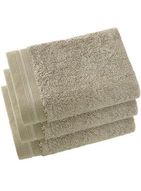 De Witte Lietaer Guest towels Contessa Taupe 40 x 60 cm - 3 pcs.