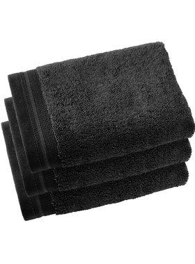 De Witte Lietaer Guest towels Contessa Black 40 x 60 cm - 3 pcs.