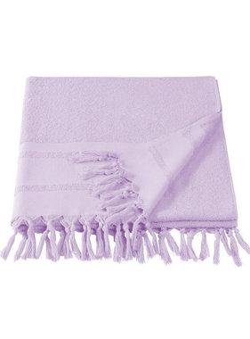 De Witte Lietaer Hammam Beach Towel with Tassels Fjara Lavender 100 x 180 cm
