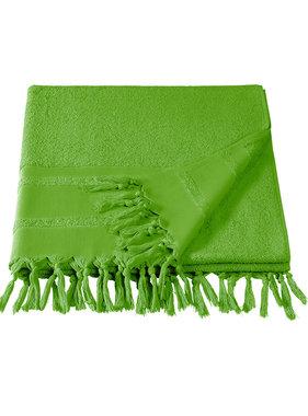 De Witte Lietaer Hammam beach towel with tassels Fjara lime green 100X180