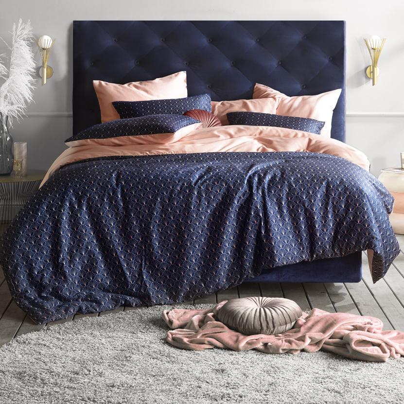 De Witte Lietaer Duvet cover Cotton Satin Idyllic - Lits Jumeaux - 240 x 220 cm - Blue