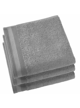 De Witte Lietaer Towels Contessa Steel Gray 50 x 100 cm - 3 pcs.