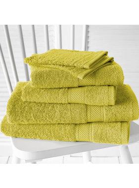 De Witte Lietaer Promopack Helene Warm Olive - Bath textiles set of 6 pieces