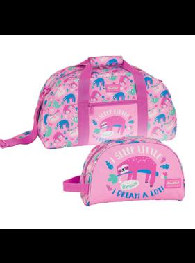 BlackFit8 Sports Bag Set Sloth - Sports Bag and Toiletry Bag