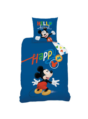 Disney Mickey Mouse Dekbedovertrek Happy 140 x 200 Katoen