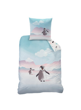 Matt & Rose Dekbedovertrek Pinguïn140 x 200 Flanel