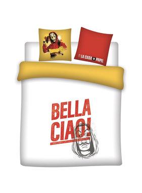 La Casa de Papel Dekbedovertrek Bella Ciao! 200 x 200 Katoen