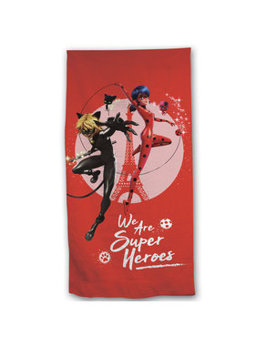 Miraculous Beach towel Super Heroes 70 x 140 Polyester