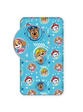 Paw Patrol Fitted sheet Blue 90 x 200 cm Cotton