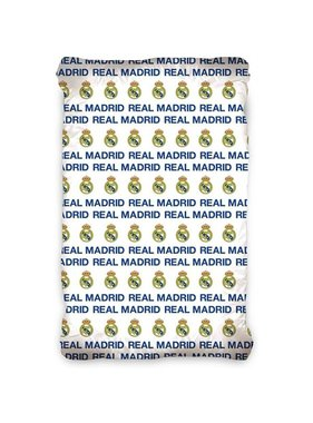 Real Madrid Fitted sheet Logo 90 x 200 cm Cotton