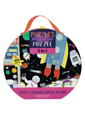 Floss & Rock 3-in-1 Space Puzzle 100 pcs.