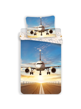 Vliegtuig dekbedovertrek Explore the World  140 x 200 cm 70 x 90 cm Katoen