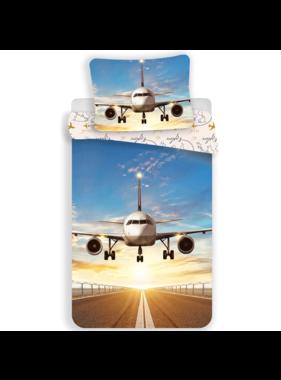 Vliegtuig duvet cover Explore the World 140 x 200 cm 70 x 90 cm Cotton