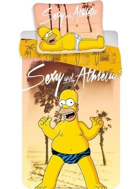 The Simpsons Dekbedovertrek Homer Beach 140 x 200 Katoen