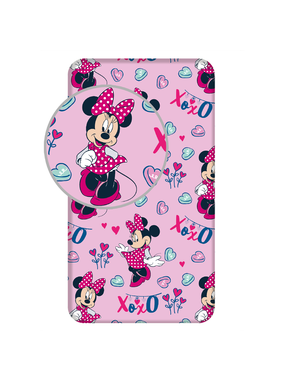 Disney Minnie Mouse fitted sheet XoXo 90 x 200 cm cotton