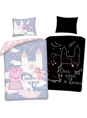 Peppa Pig Duvet cover Glow in the Dark 140 x 200 cm + 70 x 90 cm cotton