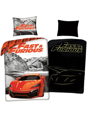 The Fast and the Furious Duvet cover Glow in the Dark 140 x 200 cm + 70 x 90 cm cotton