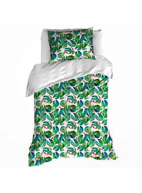 De Witte Lietaer Duvet cover Puddle Green 140 x 200/220 cm Cotton