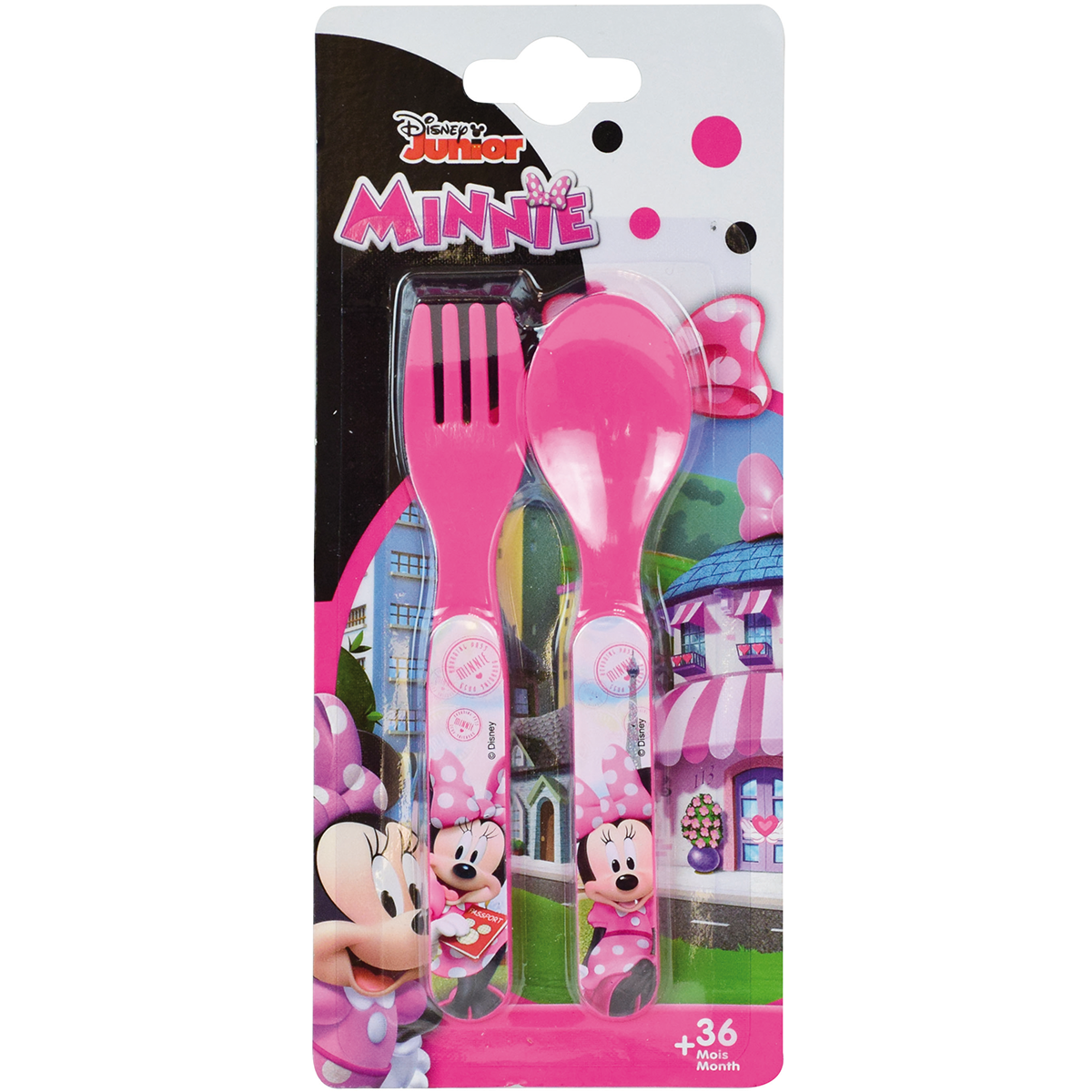 Disney Minnie Mouse Cutlery Spoon and Fork 2 pieces - Polypropylene