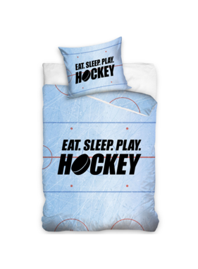 Hockey Duvet cover Eat Sleep Play Hockey 140 x 200 Cotton