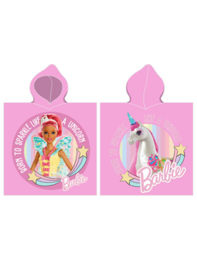 Barbie Poncho Unicorn 55 x 110 cm Cotton