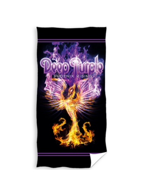 Deep Purple Beach Towel Phoenix Rising 70 x 140 Cotton
