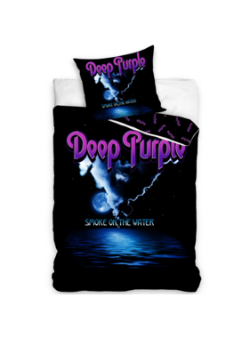 Deep Purple Duvet cover Smoke on the Water 140 x 200 Cotton