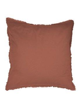 Matt & Rose Set Pillowcases Terracotta 65 x 65 cm Washed Cotton