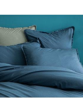 Matt & Rose Duvet cover Blue 260 x 240 + 50 x 70 Washed cotton