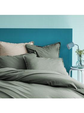 Matt & Rose Duvet cover Green 260 x 240 + 65 x 65 Washed cotton