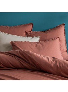 Matt & Rose Duvet cover Terracotta 260 x 240 + 65 x 65 Washed cotton