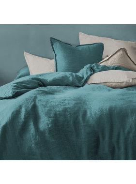 Matt & Rose Duvet cover Green 240 x 220 + 50 x 70 Linen