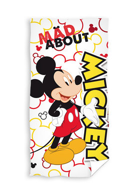 Disney Mickey Mouse Beach towel Mad About 70 x 140 cm Cotton