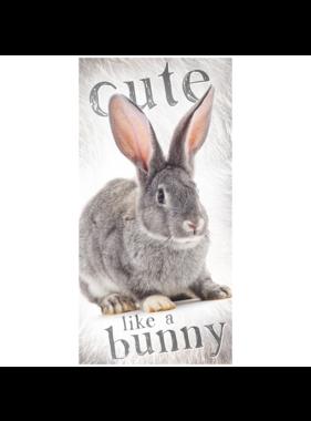 Animal Pictures Beach towel Rabbit 70 x 140 cm Cotton