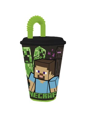 Minecraft Cup with straw 430 ml