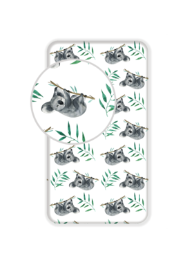 Animal Pictures Fitted sheet Koala 90 x 200 cm Cotton
