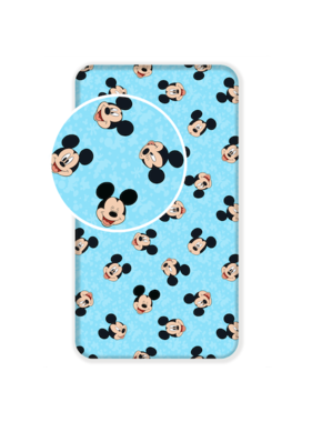 Disney Mickey Mouse Fitted sheet Faces 90 x 200 cm Cotton