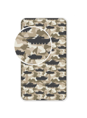 Tank Fitted sheet Camouflage 90 x 200 cm Cotton