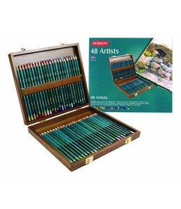Derwent  Derwent Artists 48 Buntstifte in einer Holzkiste